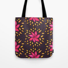 Whimsical Watercolor Floral Pattern In Pink And Purple Tote Bag
