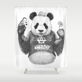 Punk Panda Shower Curtain