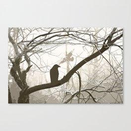 Natural crows Canvas Print