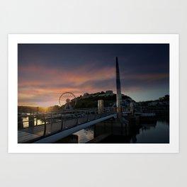 Torquay Harbour At Sunset Art Print