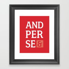 Ampersand Series - #5 Framed Art Print