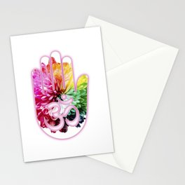 Zen Ohm Hamsa Colorful Flower Stationery Cards
