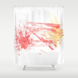 Orange and Yellow Shower Curtain