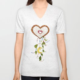 Catching My Heart Dream Catcher Unisex V-Neck