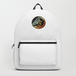Vintage Retro Bass Fish Lover Backpack