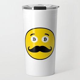 Mr. Bicoin Mustache Travel Mug