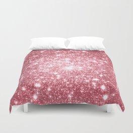 Pink Sparkle Stars Duvet Cover
