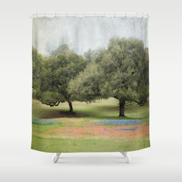 Hillcountry Bluebonnets Shower Curtain