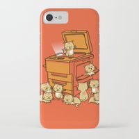 kitten iPhone & iPod Cases featuring The Original Copycat by Picomodi
