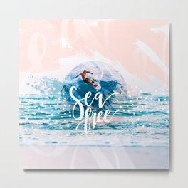 Sea Free Metal Print
