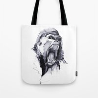 into the wild Tote Bags featuring Wild Rage by Philipp Zurmöhle