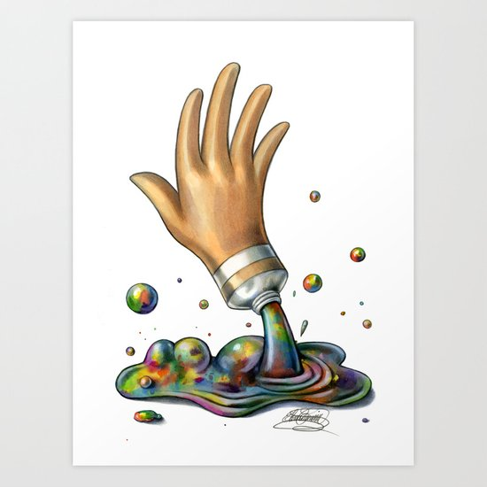 Hand of Color Art Print
