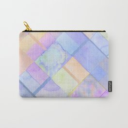 Geometric Watercolor Oranges and Blues Carry-All Pouch
