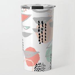 Callie - abstract minimal pastel art print texture ink hipster minimalist office or nursery Travel Mug