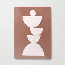 Abstract Balancing Shapes I Metal Print