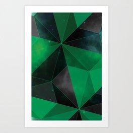 Shattered Green Art Print