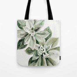 Sedum Succulents Tote Bag