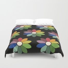 Flower pattern based on James Ward's Chromatic Circle (vintage wash) Duvet Cover