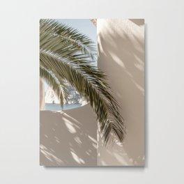 Mediterranean Spain Travel Palm Leaf Metal Print