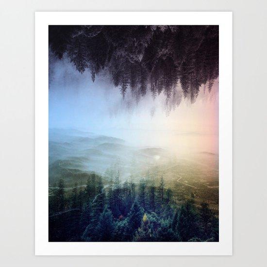 flipped forest Art Print