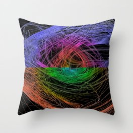 frontal centered waves Throw Pillow