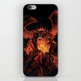 Fiery Monster on Volcano iPhone Skin
