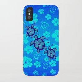 3 Blue Honu Turtles iPhone Case