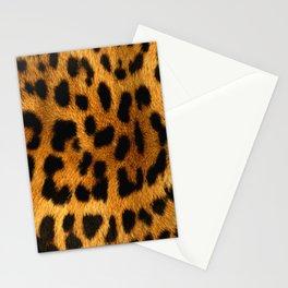 Faux Leopard Skin Pattern Stationery Cards