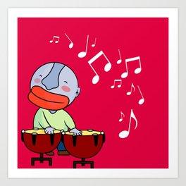 Let's play bongos Art Print