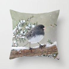 A Small Bird's Strength Throw Pillow