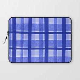 Tissue Paper Plaid - Blue Laptop Sleeve
