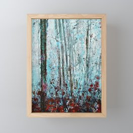 Autumn Smoke - Misty Autumn Forest Scene Framed Mini Art Print