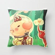 Pikmin Coffee Throw Pillow