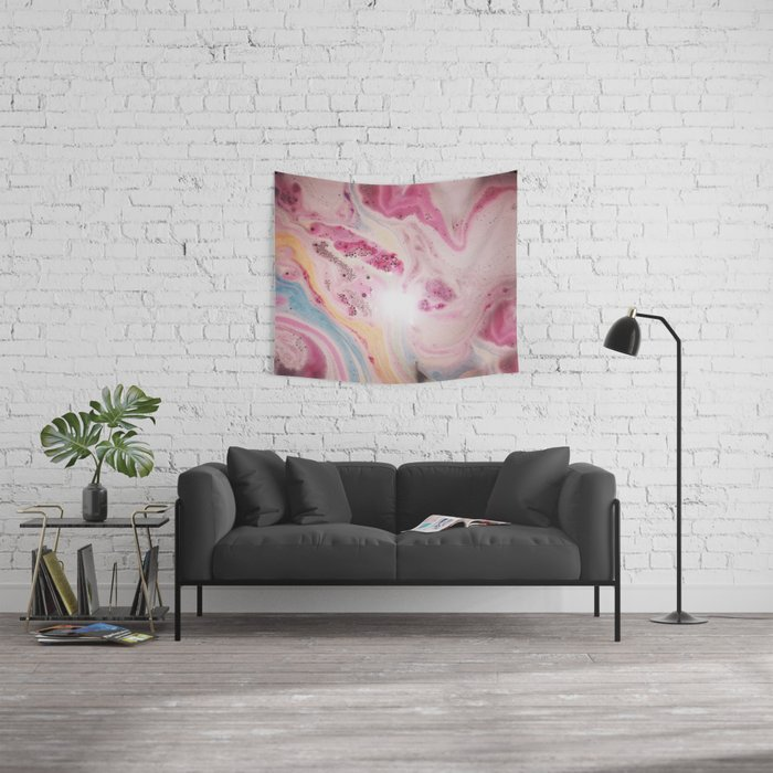 Pastel Watercolour Pattern Wall Tapestry