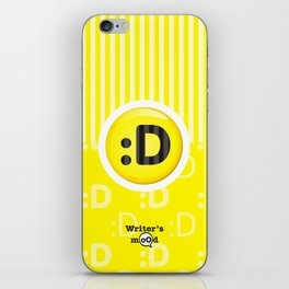 Yellow Writer's Mood iPhone Skin