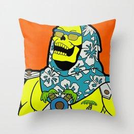 Sunset Over Castle Grayskull Throw Pillow