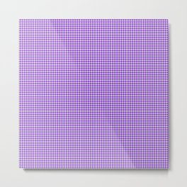Blue Violet Gingham Metal Print