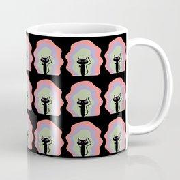 Birdie Cat Blooms Coffee Mug