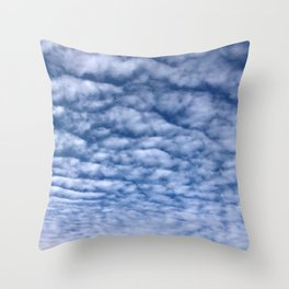 Wavy Clouds in the Sky Throw Pillow
