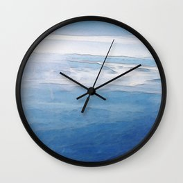 Hovering over the Alps Wall Clock
