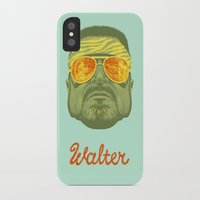lebowski iPhone & iPod Cases featuring The Lebowski Series: Walter by Bubblegun