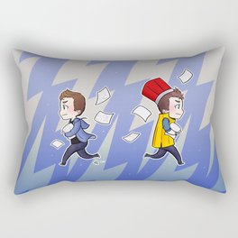 Once upon a time, there was a boy who flew. Rectangular Pillow