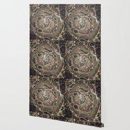 Antique Rose Pattern Wallpaper