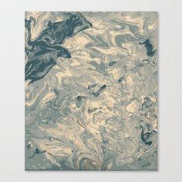 Baesic Monochromatic Paint Pour (Pale Blue) Canvas Print