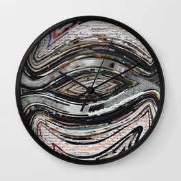 Parallel Universe Marble Wisdom Veins Wall Clock