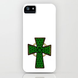 Shamrock Celtic Cross iPhone Case