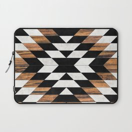 Urban Tribal Pattern No.13 - Aztec - Concrete and Wood Laptop Sleeve