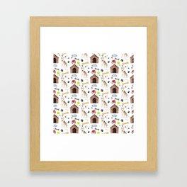 Lakeland Terrier Half Drop Repeat Pattern Framed Art Print