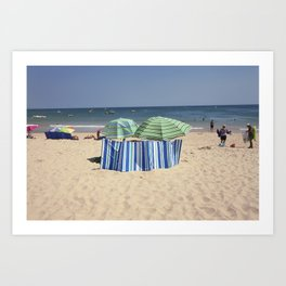 Twin Umbrella's and the Sun! Art Print