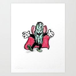 Pickled Vampire Art Print